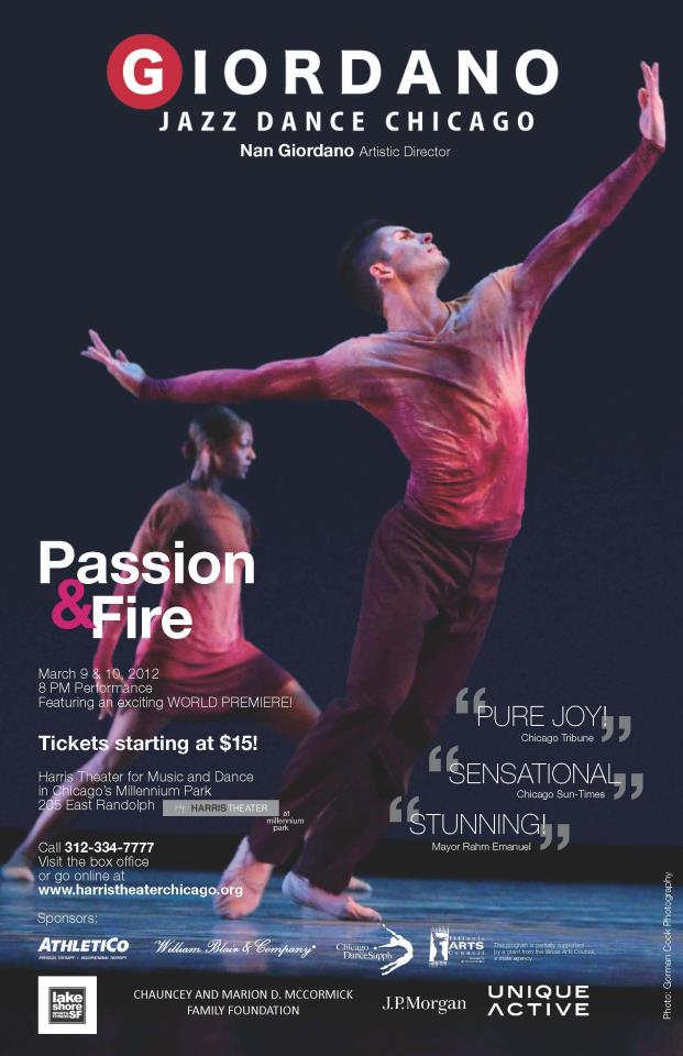 Giordano Jazz Dance Chicago PASSION & FIRE