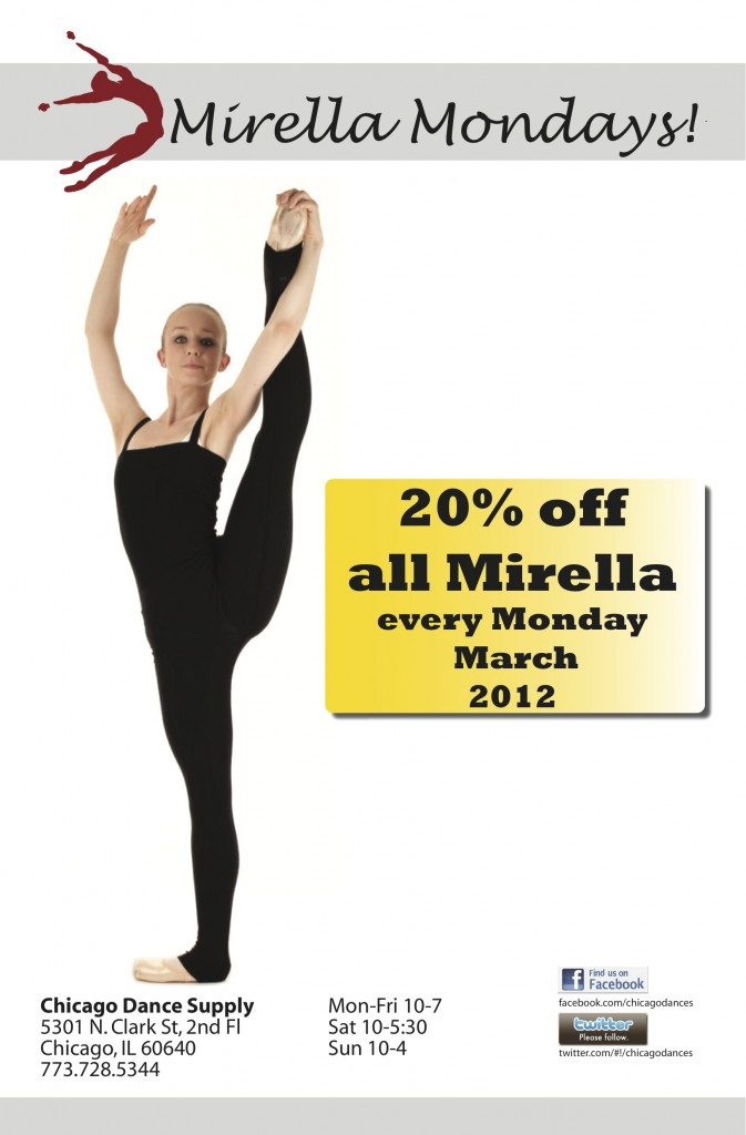 March Daily Deal:  Mirella Mondays
