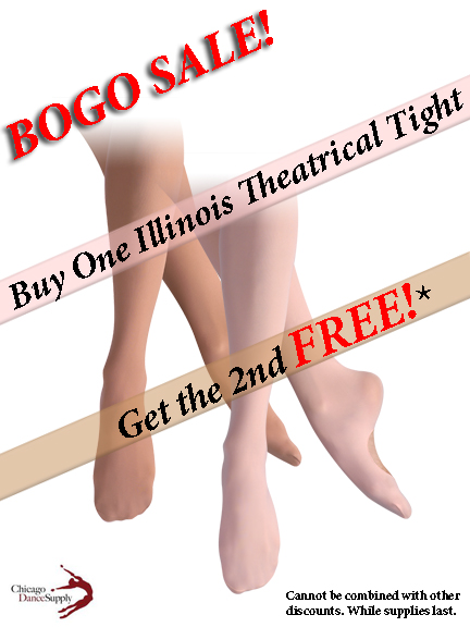 Illinois Theatrical Tights by Leo's Dancewear at Chicago Dance Supply