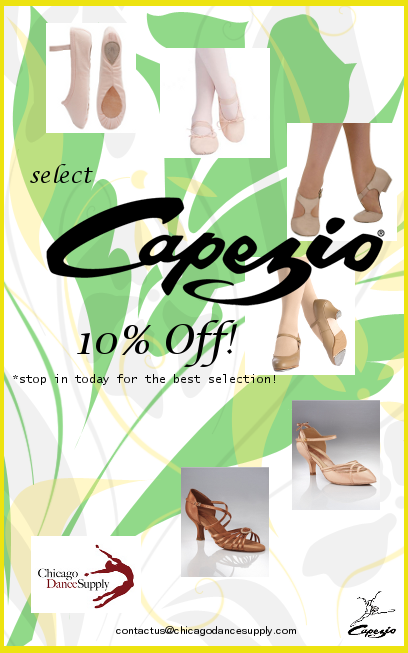 10% off select Capezio dance shoes at Chicago Dance Supply