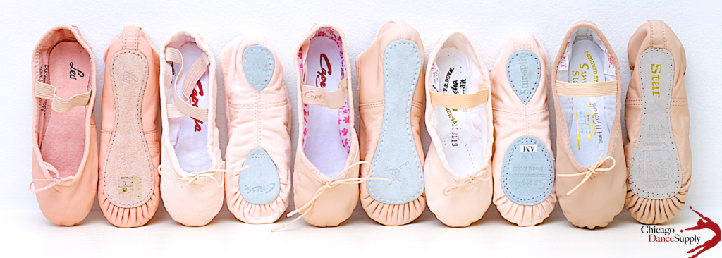 children's ballet slippers at Chicago Dance Supply