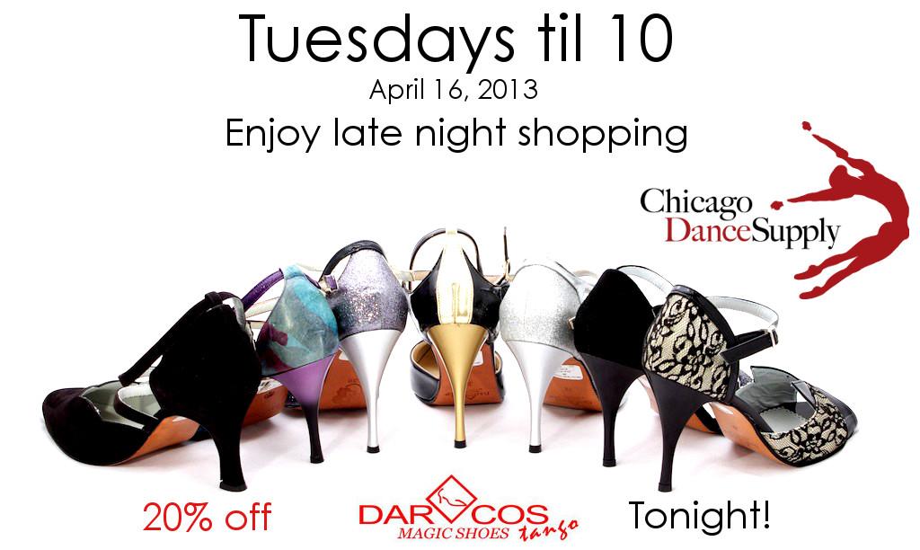 Tuesdays til 10 Chicago Dance Supply