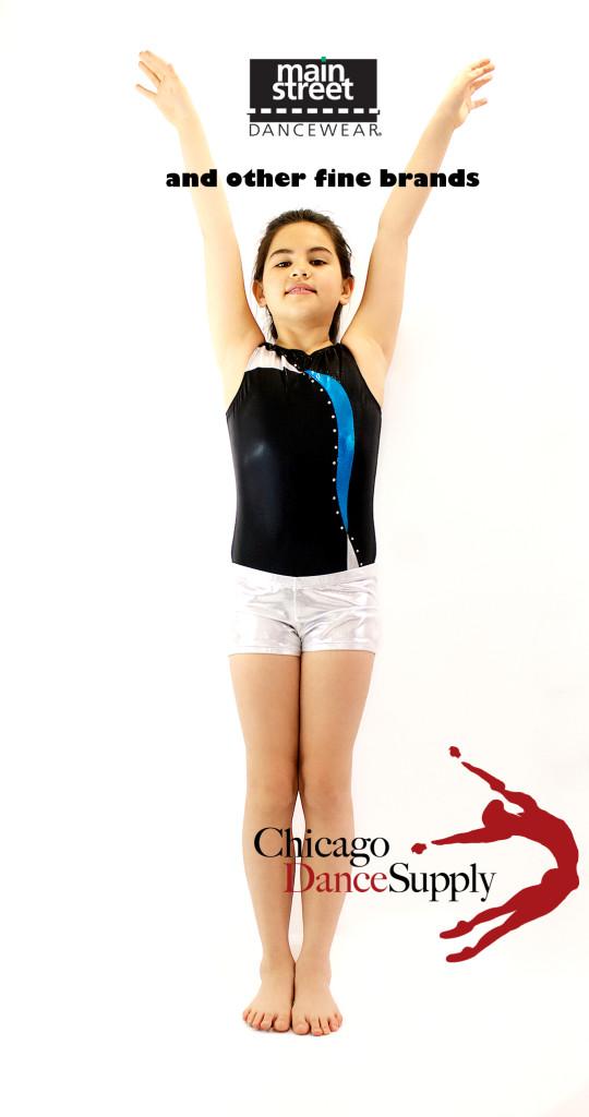 Photo:  Mainstreet Dancewear Leotard and Shorts.  Dancer:  Sydney Claire