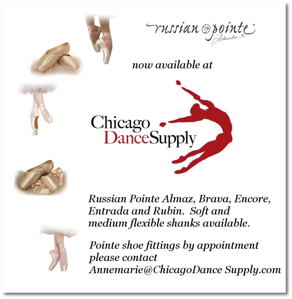 Russian Pointe Almaz, Brava, Entrada, Encore and Rubin at Chicago Dance Supply