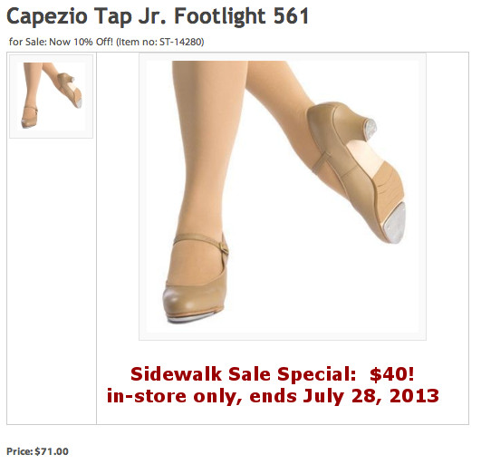 Chicago Dance Supply Tap Shoe Sale