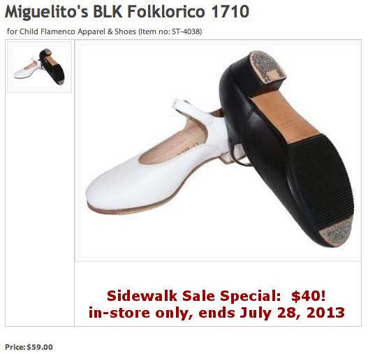 Chicago Dance Supply Flamenco Shoe Sale