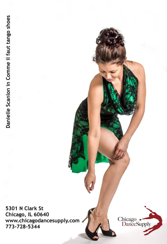 Danielle, Scanlon, Comme il faut, tango shoes, stiletto, tango dancer, milonguera chicago dance supply