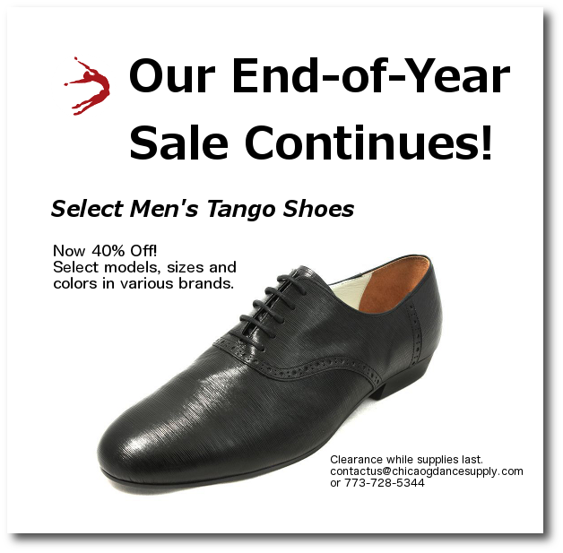 Argentine Tango Shoe Sale at Chicago Dance Supply