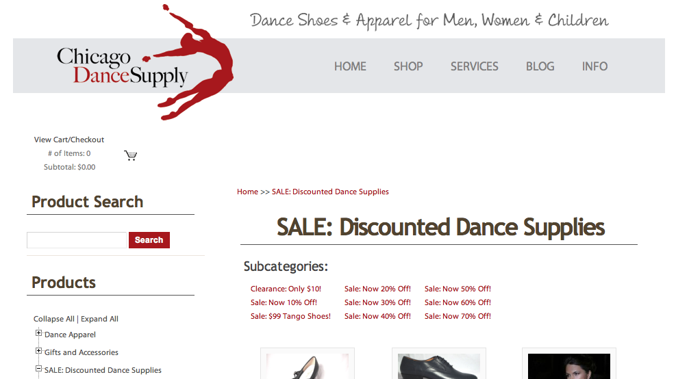 Clearance Sale Chicago Dance Supply