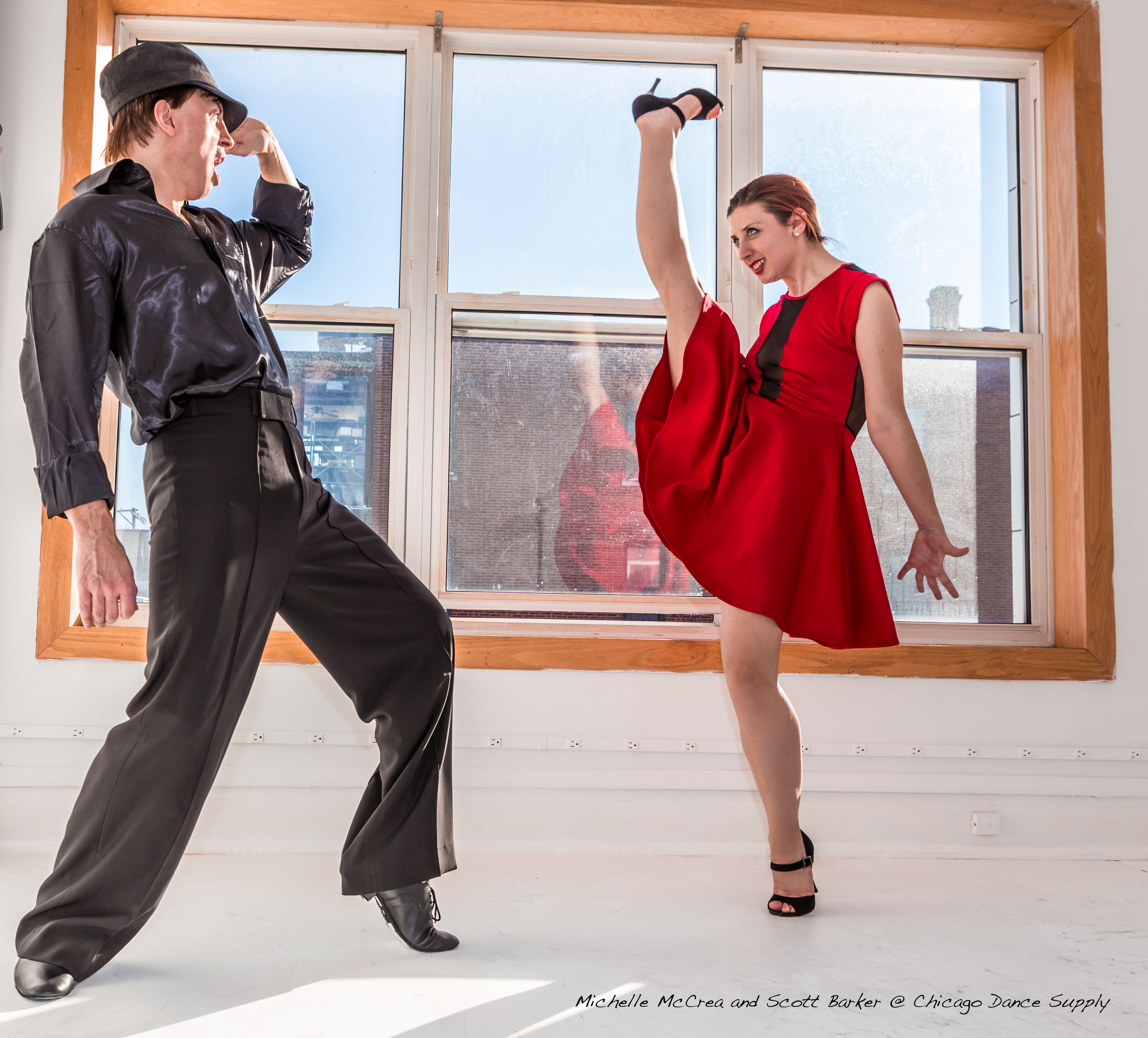 Michelle McCrea and Scott Barker at Chicago Dance Supply