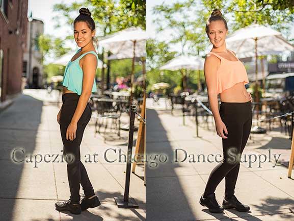 CDS Crew Ericka Salamon and Alee Turk in Capezio Dancewear at Chicago Dance Supply