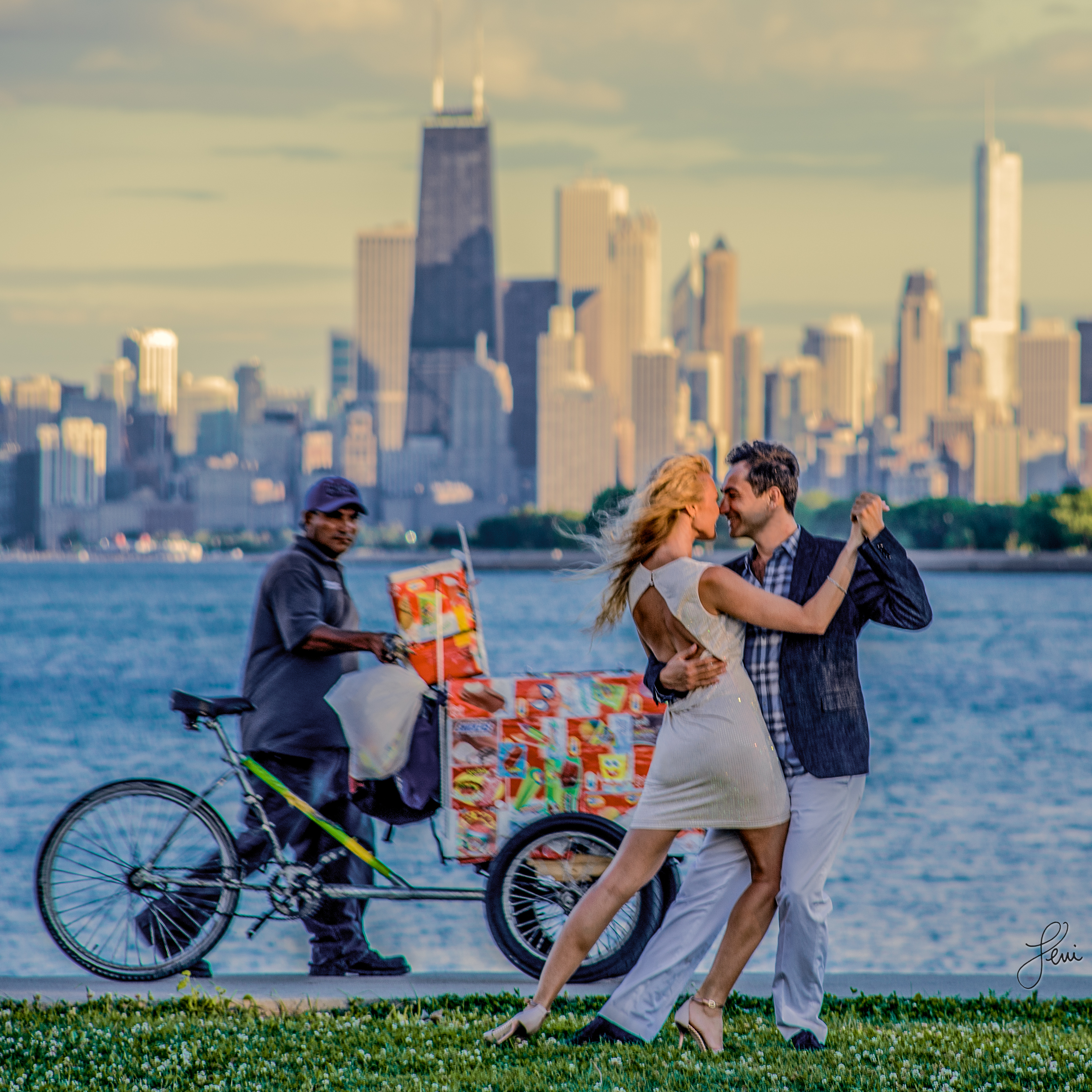 Somer and Jessica at Montrose Harbor