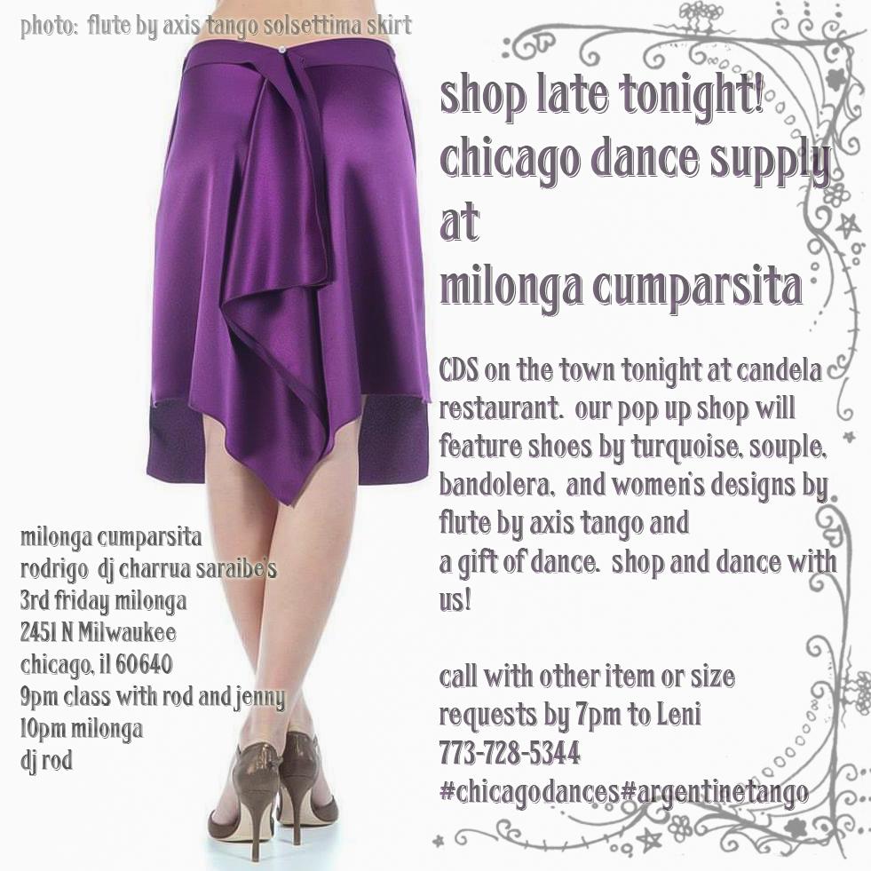 Chicago Dance Supply at Milonga Cumparsita