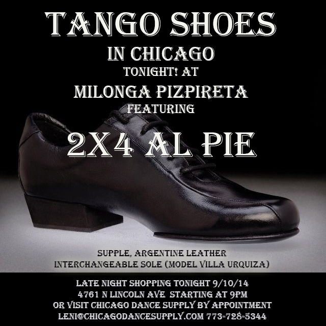 2x4 al pie tango shoes at Chicago Dance Supply
