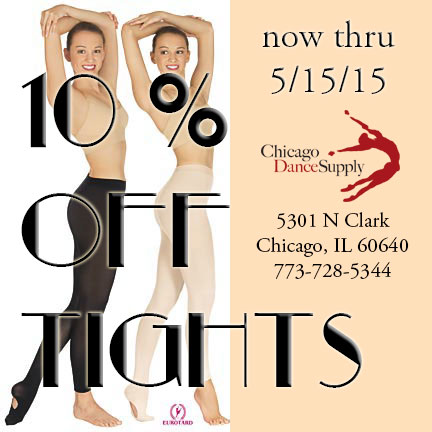Eurotard, Capezio, Body Wrappers, Gaynor Minden, Sansha, Leo and Russian Pointe tights at Chicago Dance Supply
