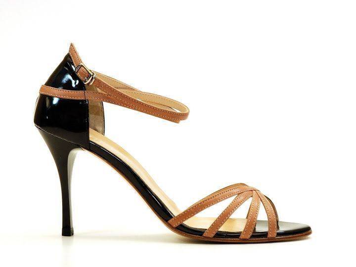 size 38 Black and Brown Strapy Odile Tango Shoe