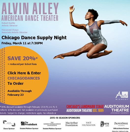 Alvin Ailey, Chicago Dance Supply