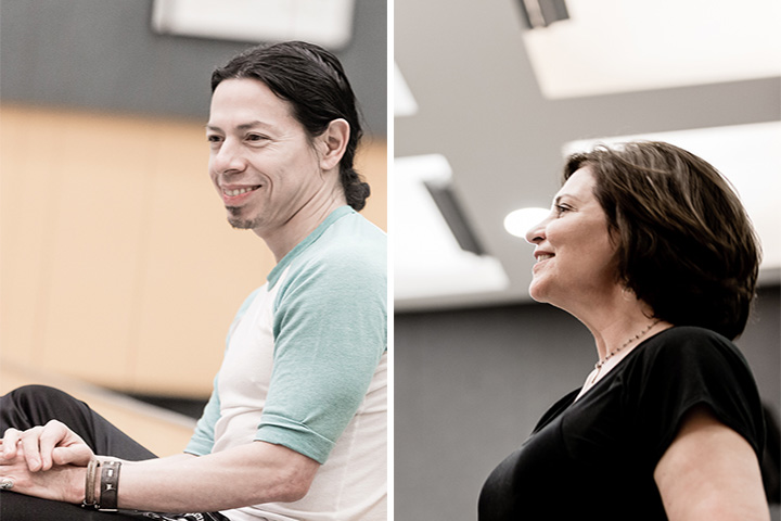 Wilfredo Rivera, CRDT, and Sherry Zunker of BeMoved Dance, collaborate for CRDT Inside/Out 2016 at Old Town School of Folk Music. Photos: Leni Manaa-Hoppenworth