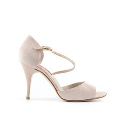 Paoul's Camoscio Cipria, Size 37, 9 cm heel