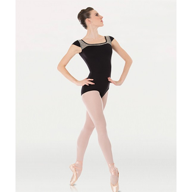 Cap sleeve leotard P863