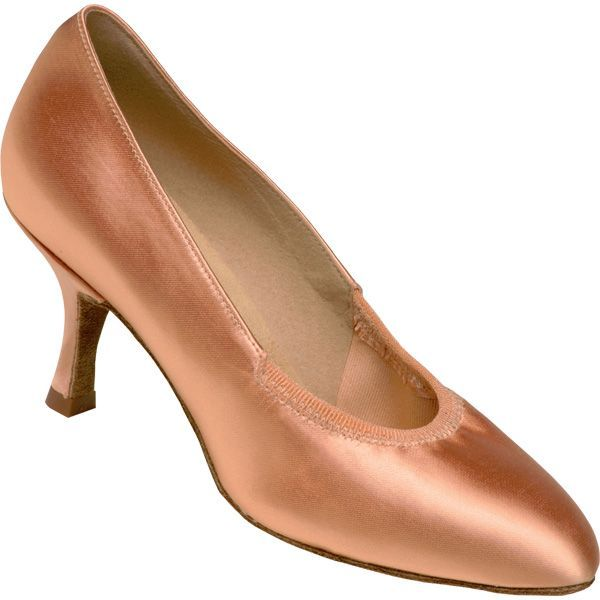 Supadance 1008. A very popular rounded toe elastic court with a shorter toe length. Elastic looks smooth when on the foot.