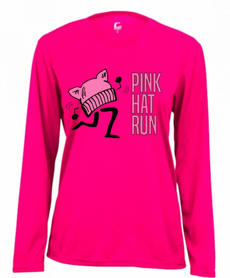 Pink Hat Run Long Sleeve Pink T
